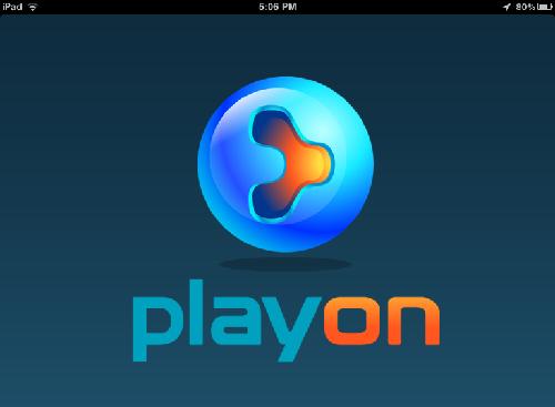 PlayOn logo on iPad