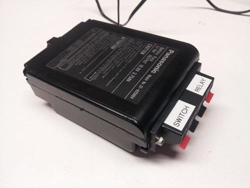 tuxgrpahics ethernet garage door opener in Panasonic battery case