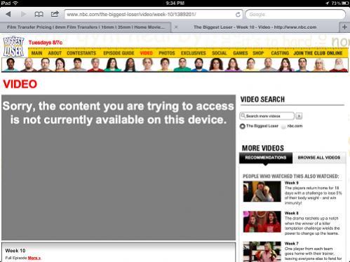 Flash video - denied! - Apple iPad