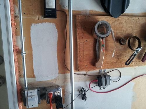 tuxgraphics smartphone garage door opener installed