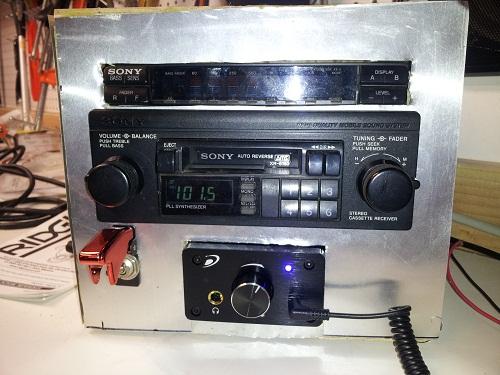 Garage car stereo