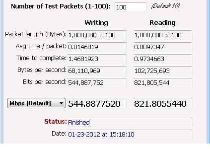 LAN Speed Test for TiVo Repurpose